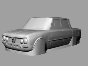 body rc 1:10 alfa romeo