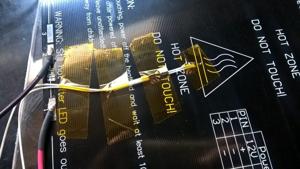 installare termistore 100k su stampante 3d